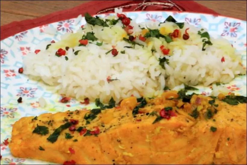 saumon curcuma citronnelle