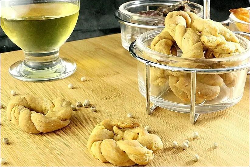 Pebradous – biscuits apéritifs de Limoux au poivre
