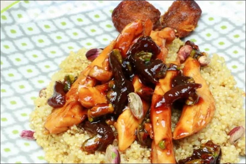 quinoa poulet sauce soja