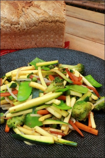 poelee courgette carotte gingembre