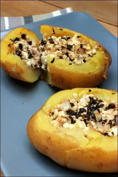 pommes de terre farcies feta olives