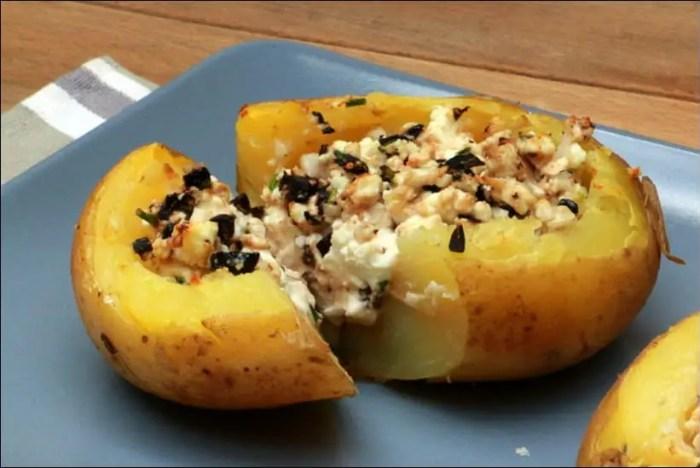 pommes de terre farcies feta