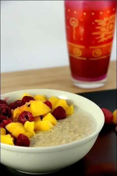 recette porridge mangue