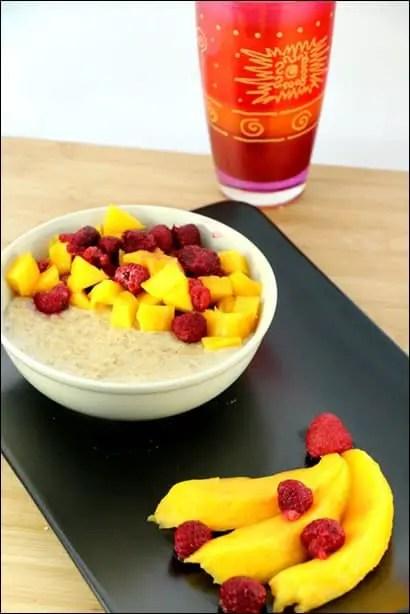 recette porridge framboise