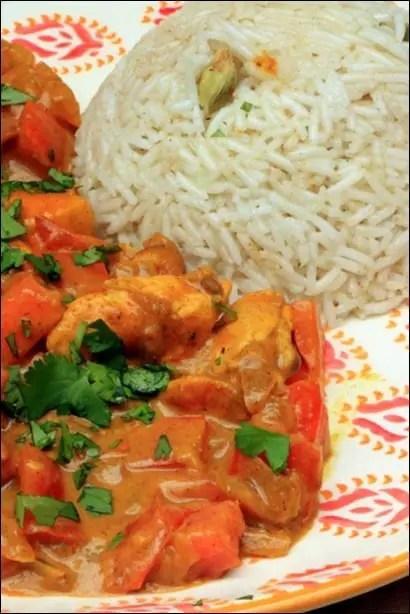 recette poulet curry balti