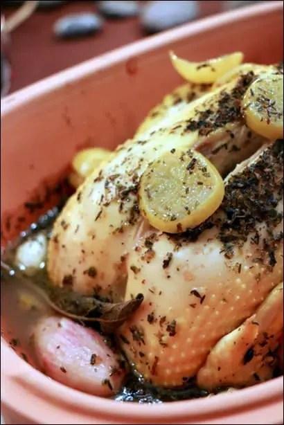 poulet citron confit