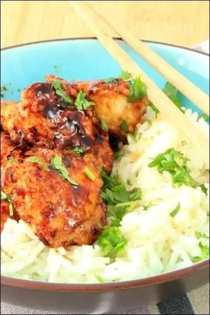 poulet au miel sauté au wok