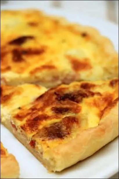 quiche bacon mozzarella