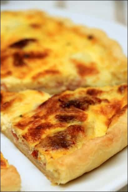 quiche bacon mozzarella