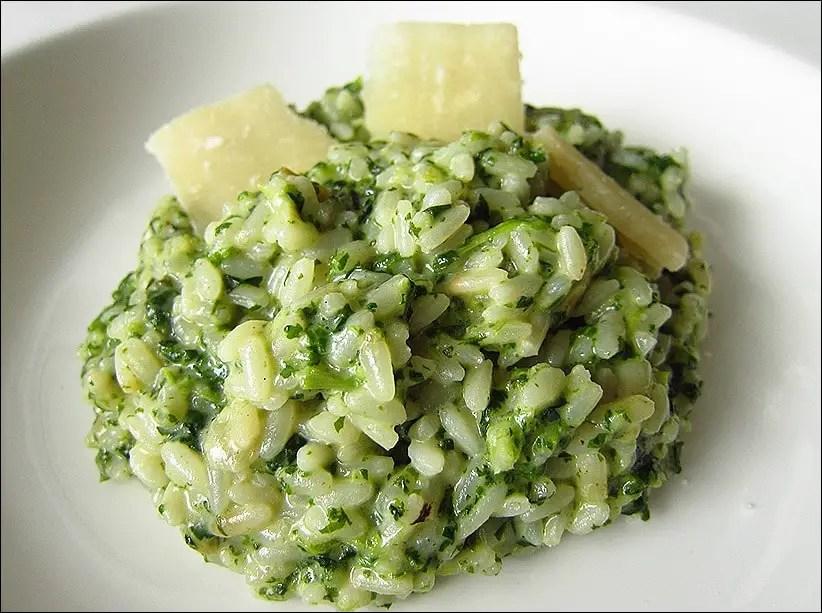 risotto epinard chevre jamie oliver