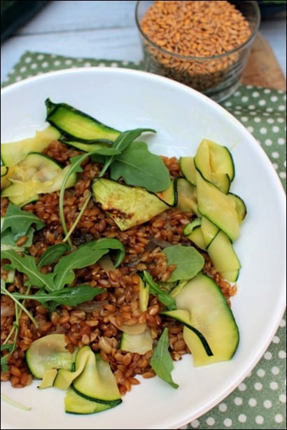 risotto epeautre courgettes