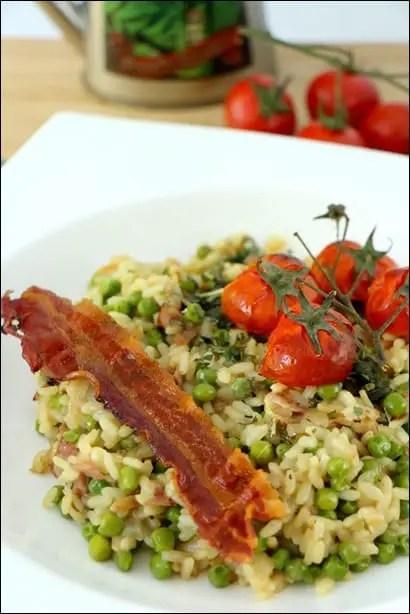risotto pancetta petit pois