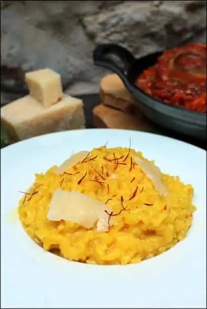 risotto safran trois fois par jour