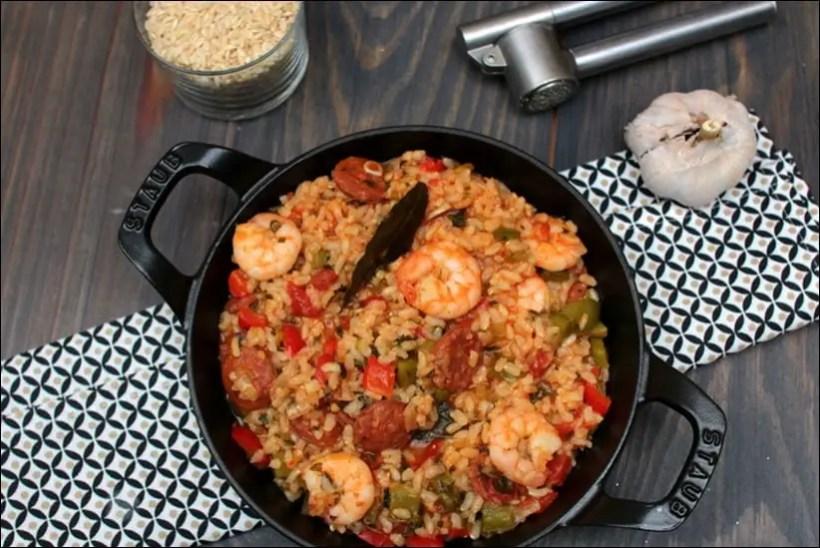 recette riz crevettes chorizo