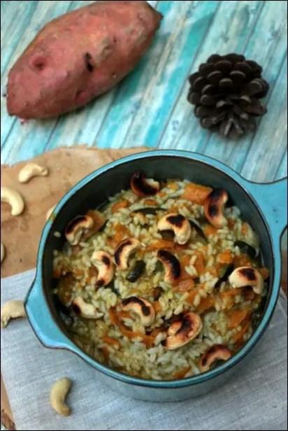 riz patate douce lait de coco