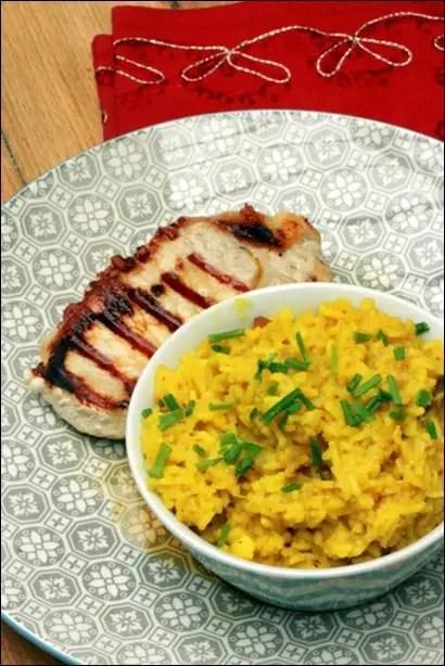 riz pilaf au chou-fleur et aux épices