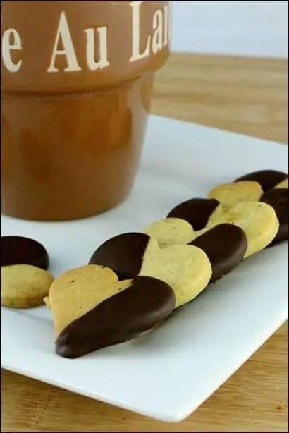 sablés aux pistaches et chocolat