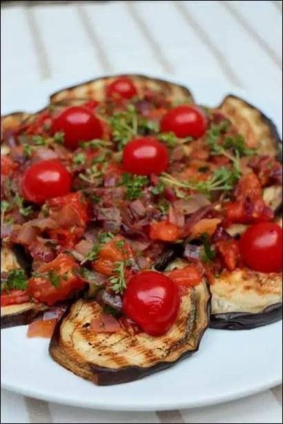 salade aubergine et tomate