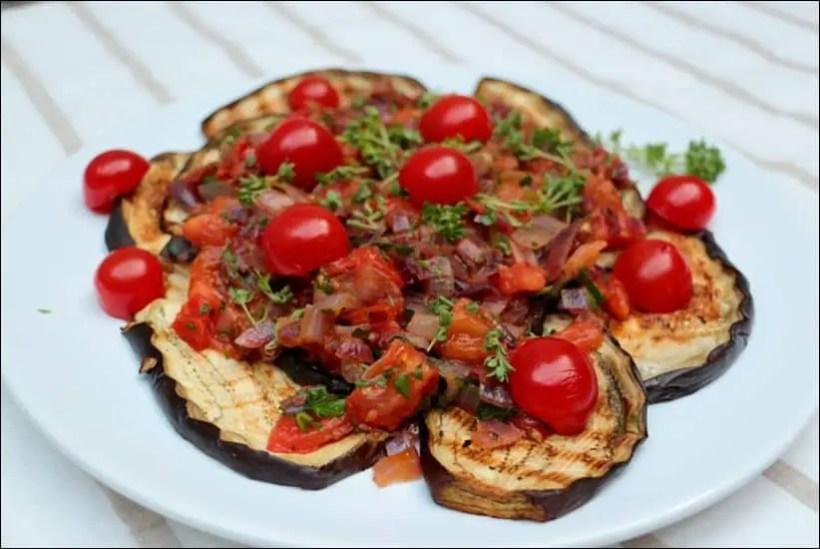 salade aubergine tomate