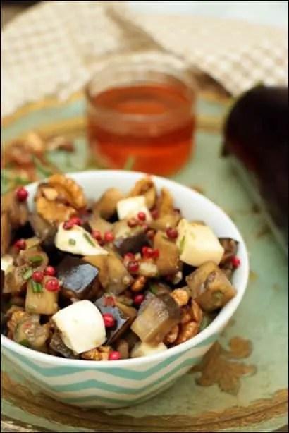 salade aubergine mozzarella