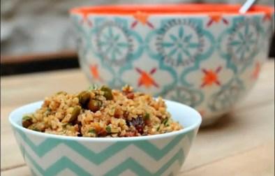 salade de boulghour aux raisins secs et pistaches de Yotam Ottolenghi