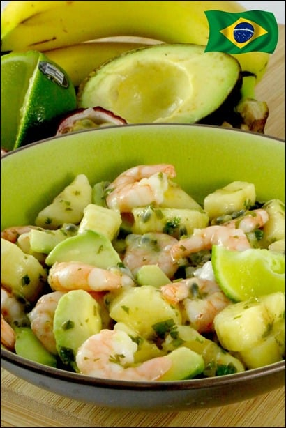 salade avocat crevette healthy