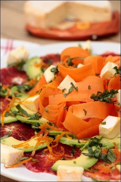 salade d'avocat et carotte