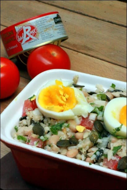 salade haricots blancs thon oeuf