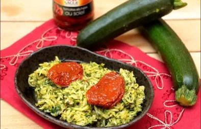 salade de courgettes râpées à la cannelle