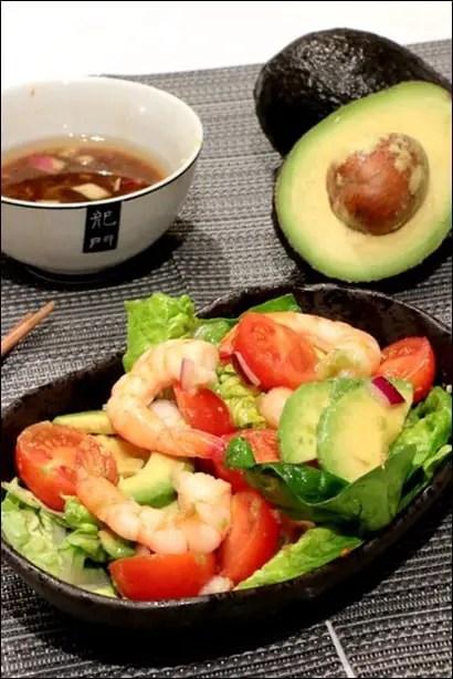 salade de crevettes thai