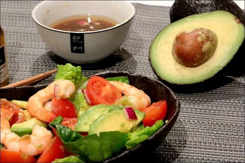 salade d'avocat crevettes facile