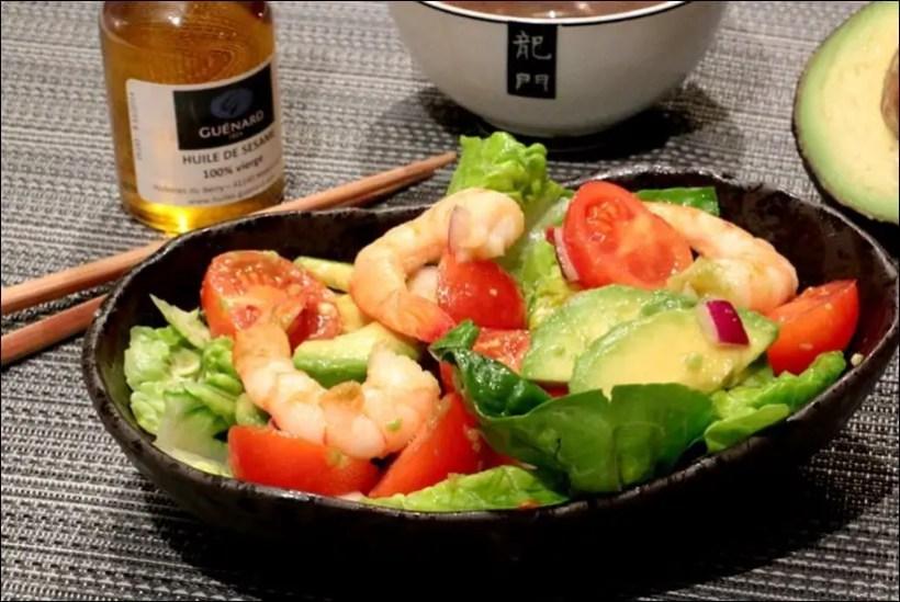 salade crevettes avocat