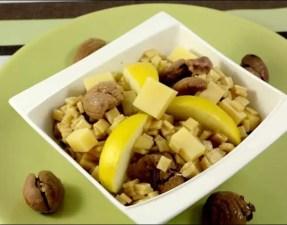 salade de crozets aux pommes marrons et comté