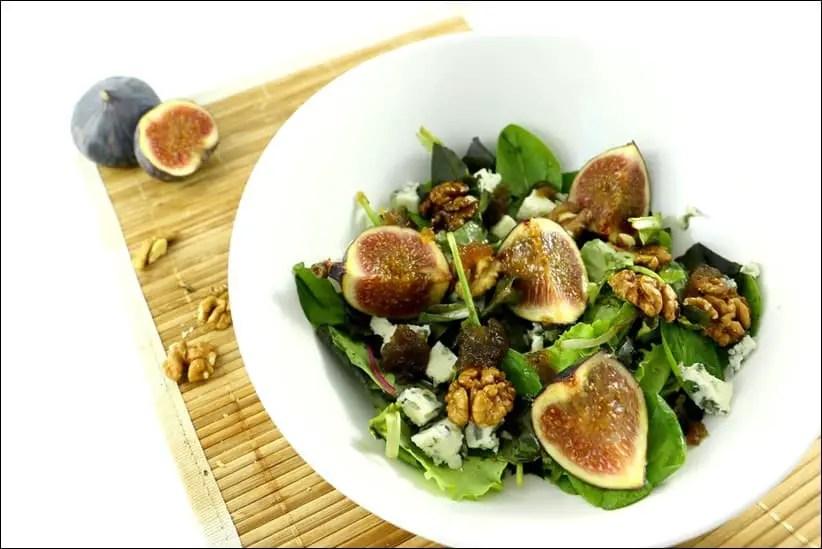 salade aux figues noix et roquefort