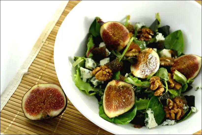 salade figues roquefort