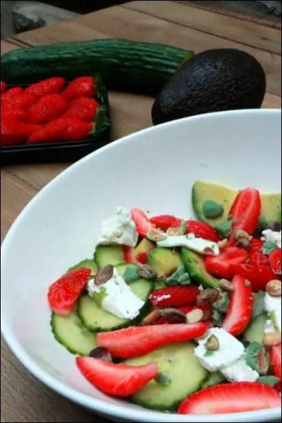 salade fraise avocat chevre
