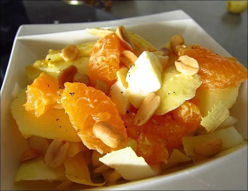 salade endives et pommes recettes