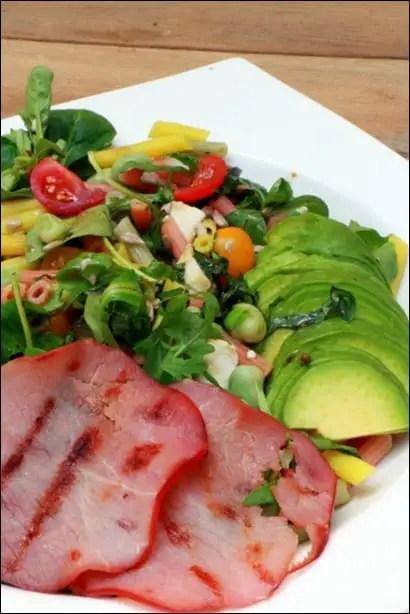 salade de pates avocat fèves