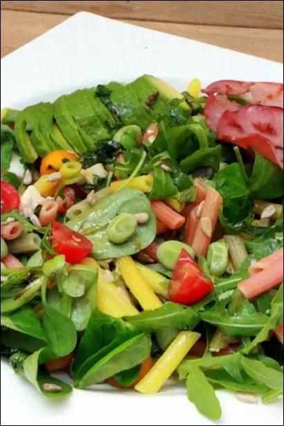 salade de pates avocat mozzarella