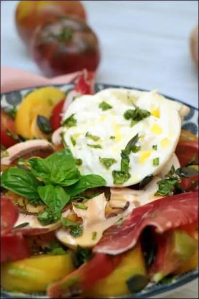 salade de lentilles aux tomates
