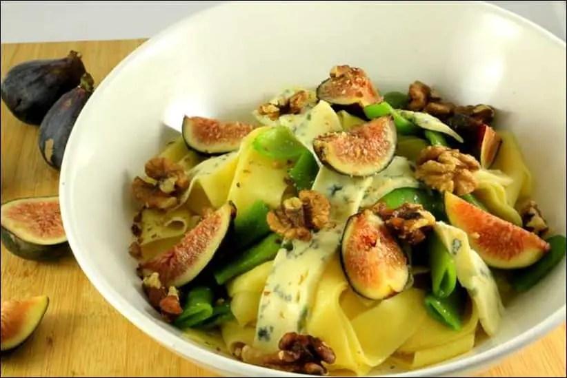 salade de pates figues noix