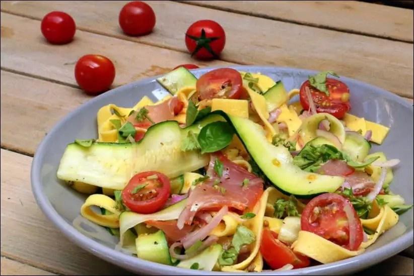 salade de pates jambon courgette