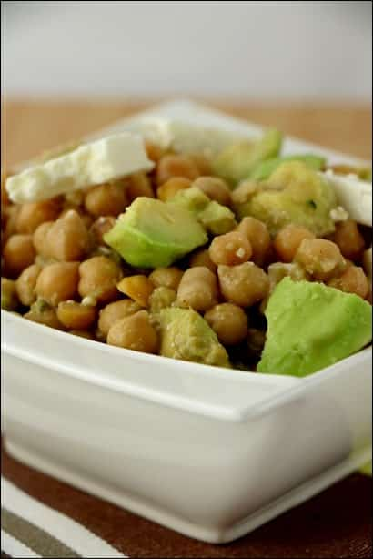 salade pois chiches avocat