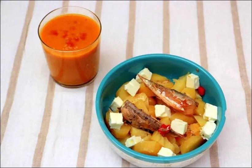 salade de pomme de terre au maquereau