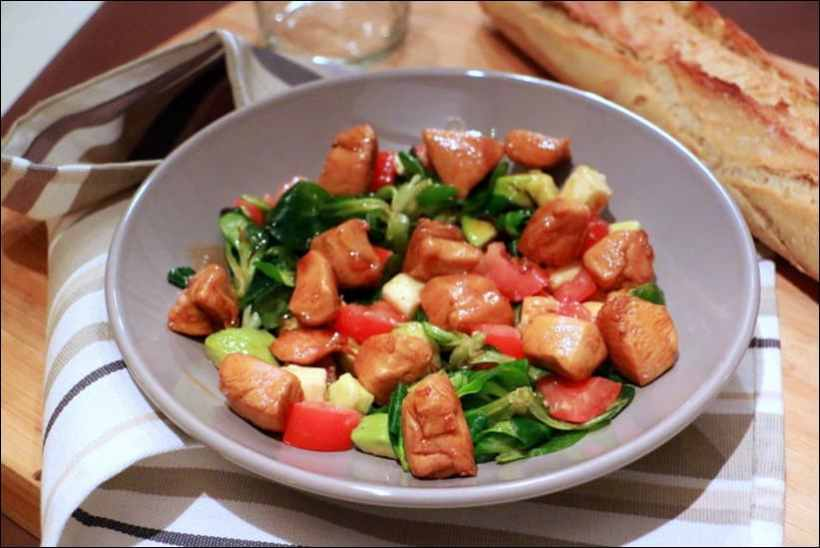salade poulet avocat mozzarella