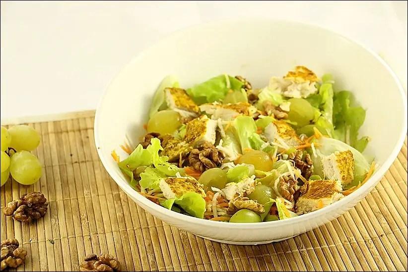 salade raisin poulet
