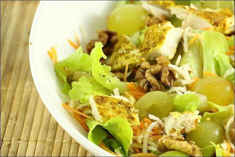 salade raisin noix