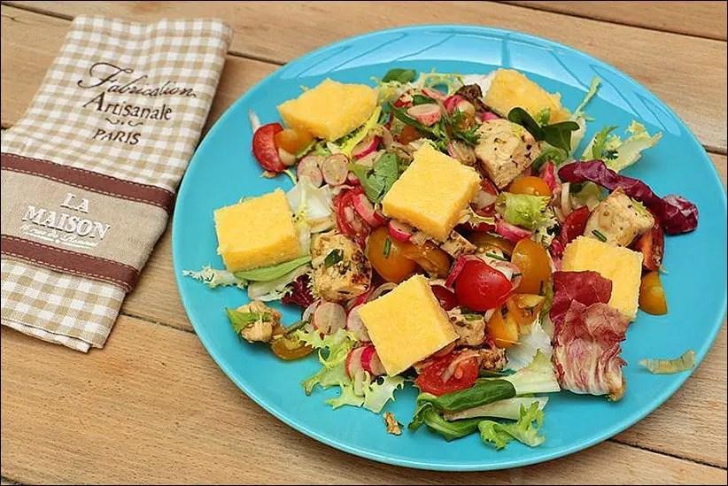 salade poulet grille polenta