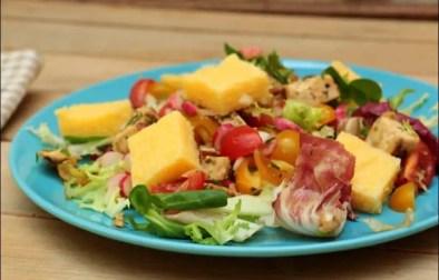 salade de poulet grillé et polenta
