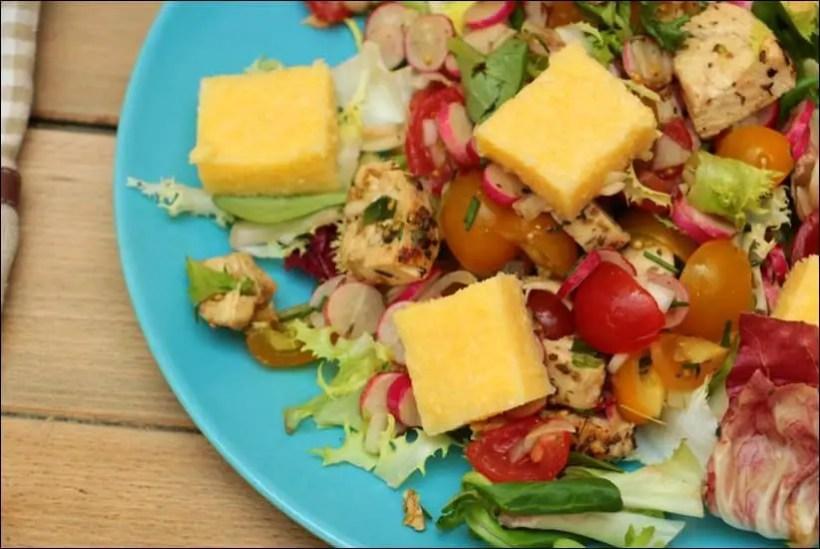 salade poulet polenta